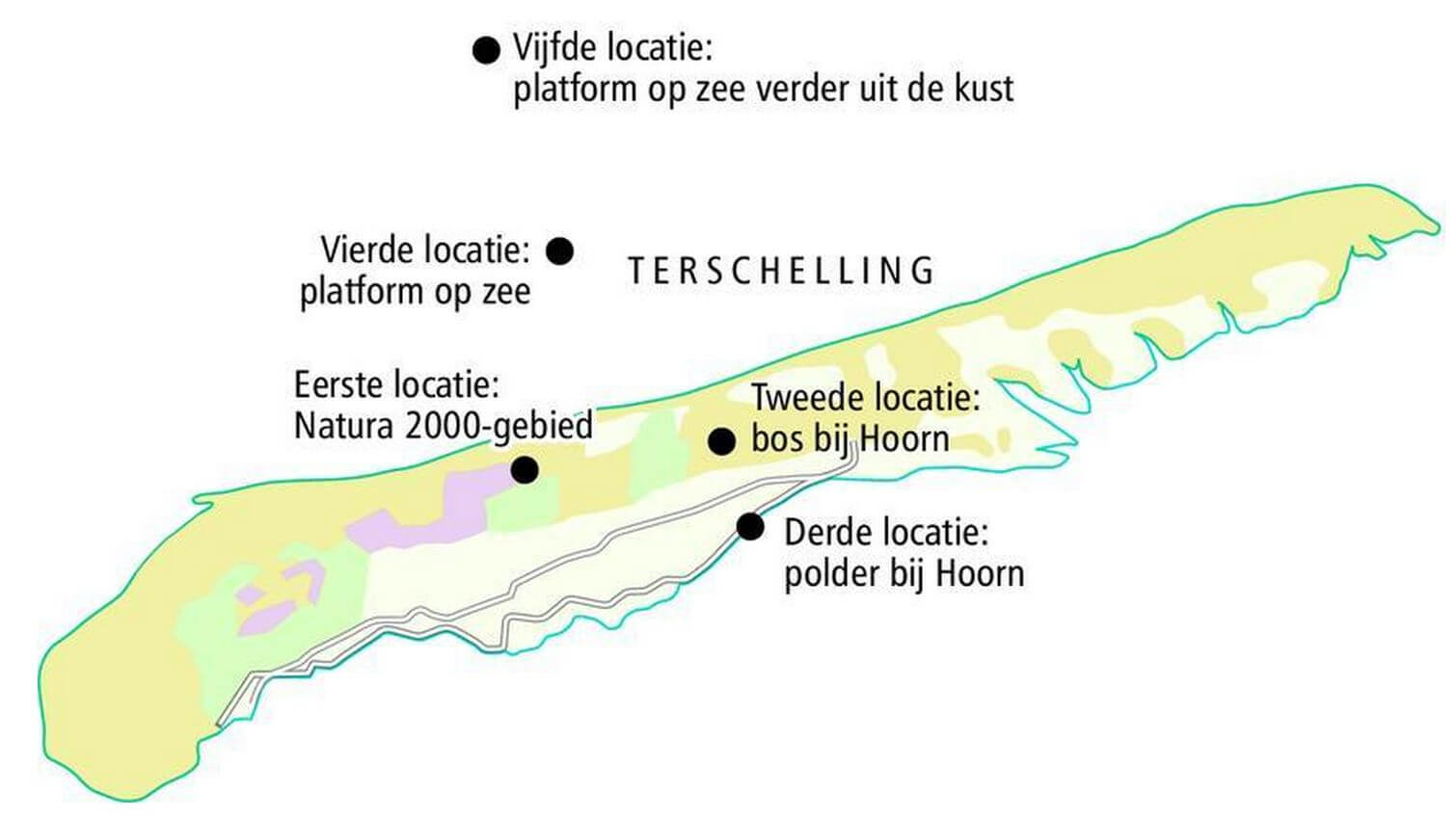 Boorlocaties Terschelling